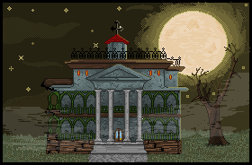 Haunted House - Pixel by Forlork