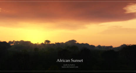 -african sunset- by ludow