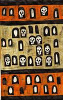 skull wall by AllieHartley