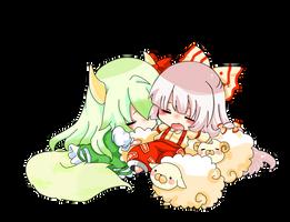 Mokou and Ex Keine Vector by Seikaku-art