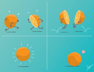 Half Orange by zerreitug