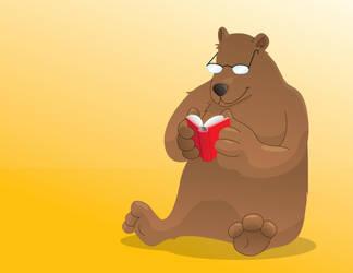 Reading Bear by zerreitug