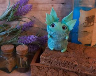 Sleepyhead art toy fantasy creature by Furrykami-creatures