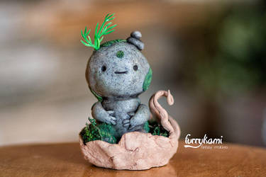 Stone totem spirit by Furrykami-creatures