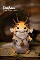 Koi carp dragon handmade toy by Furrykami-creatures