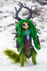 Forest spirit by Furrykami by Furrykami-creatures