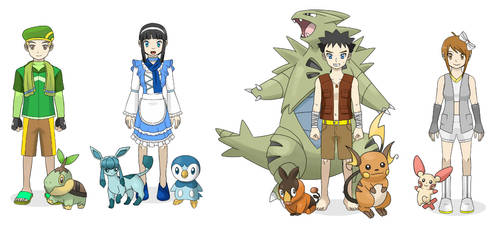 Rion and Friends in Pokemon Part C by StarRion20