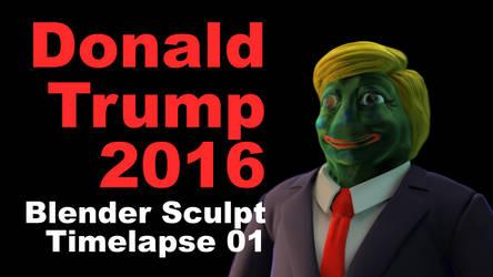 Donald Trump 2016 Pepe 01 by johnnydwicked