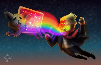 Donald Trump Nyan Cat 2016 01 by johnnydwicked