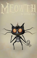 Meowth Tim Burton Style Blender Sculpt by johnnydwicked