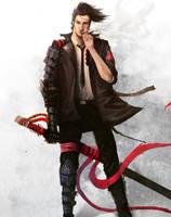 Random Modern Samurai / Detective by Yi-Kai