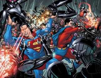 Superman 698 22-23 by BlondTheColorist