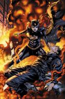 Batgirl 17 page 1 by BlondTheColorist