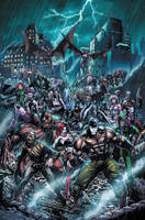 Forever Evil: Arkham War 1 cover by BlondTheColorist