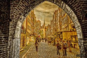 Szeroka Street in Gdansk by wiwaldi24