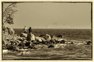 Love, waves, sea, and ...ferry. by wiwaldi24