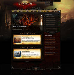 Diablo 3 Ultimate webspell template by mazzery