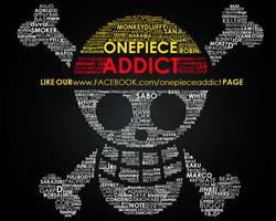 One Piece Addict Typography by kon1495