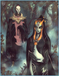 Midna and Zant by StellaB