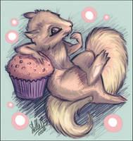 Cupcake Squirrel by StellaB