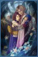 Tidus and Yuna by StellaB