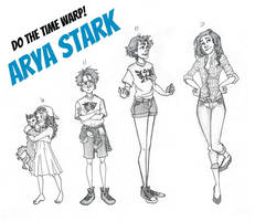 Do the time warp: Modern Arya Stark by iMissSimplicity