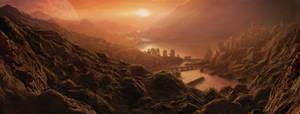Matte - Dramatic sunset by RQuack