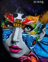 Lady Gaga Sharpie Drawing by kpotatodorkk
