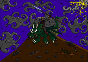 Dragon rider by Watashiii