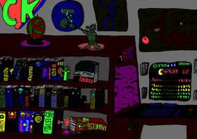Alien room, dark by Watashiii