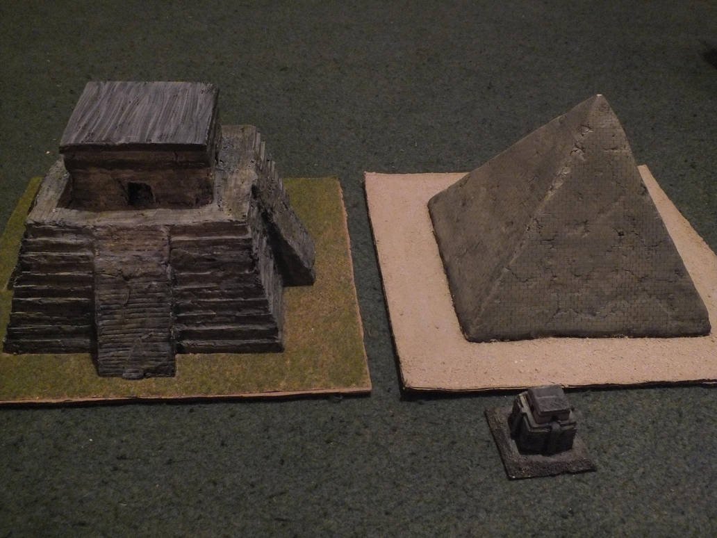 Pyramid Models - Maya / Egypt by Baryonyx62