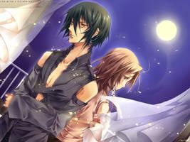 Tsukiakari :: for Ten-chan by Blizz-Mii