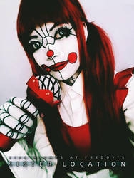 Baby Cosplay - FNAF SL [ TEST MAKEUP 2 ] by zkimdrowned