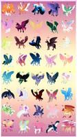 40 Fantasy Horse Adopts [3/40] OPEN! by sana-0095