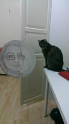 My cat and I by feministmedusa