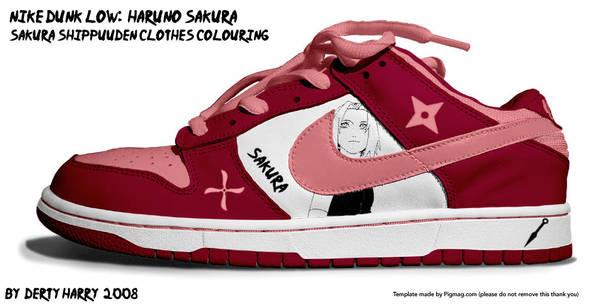 Nike Dunk Low Haruno Sakura by DertyHarry