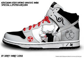 Nike Dunk High: Kakashi ANBU by DertyHarry