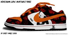 Nike Dunk Low: Akatsuki Tobi by DertyHarry