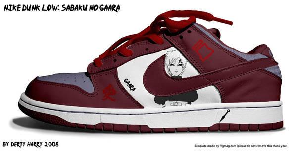 Nike Dunk Low: Sabaku no Gaara by DertyHarry
