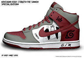 Nike Dunk High: Jiraiya The Sa by DertyHarry
