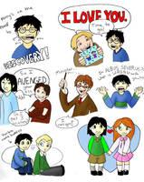 Harry Potter Doodles by porpierita