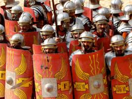 Close Up On A Roman Army by porpierita