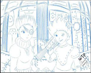 Steampunk-Girls by Amessari