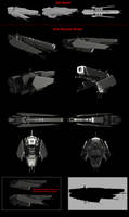Contention: UNMC Masada-class frigate remake by Malcontent1692