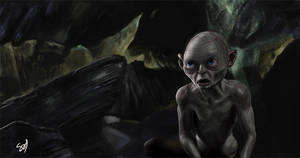 The hobbit fan art Gollum by Learningasidraw