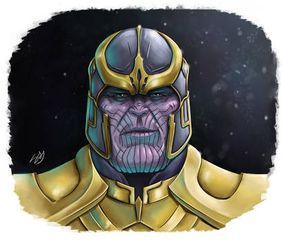 Thanos fan art (TUTORIAL) by Learningasidraw