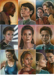 Star Trek Deep Space Nine sketch cards  by huy-truong