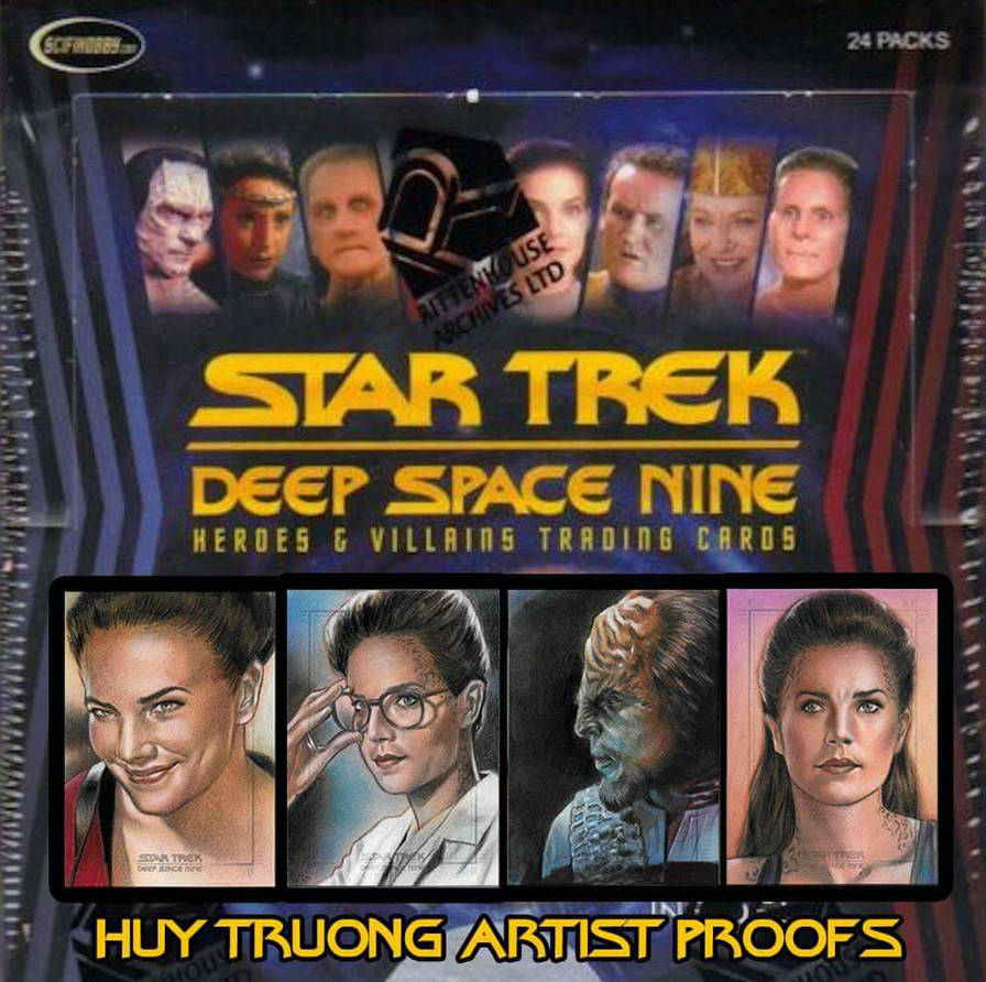 Star Trek Deep Space Nine Artist Proof cards  by huy-truong