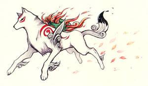 Okami: Amaterasu by Arlmuffin