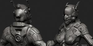 Sci-Fi LAR Scout - high poly sculpt by FuriKar